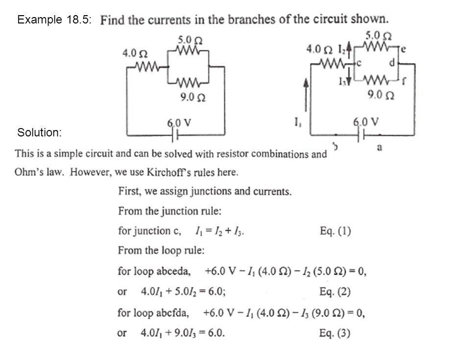 Example 18.5: Solution: