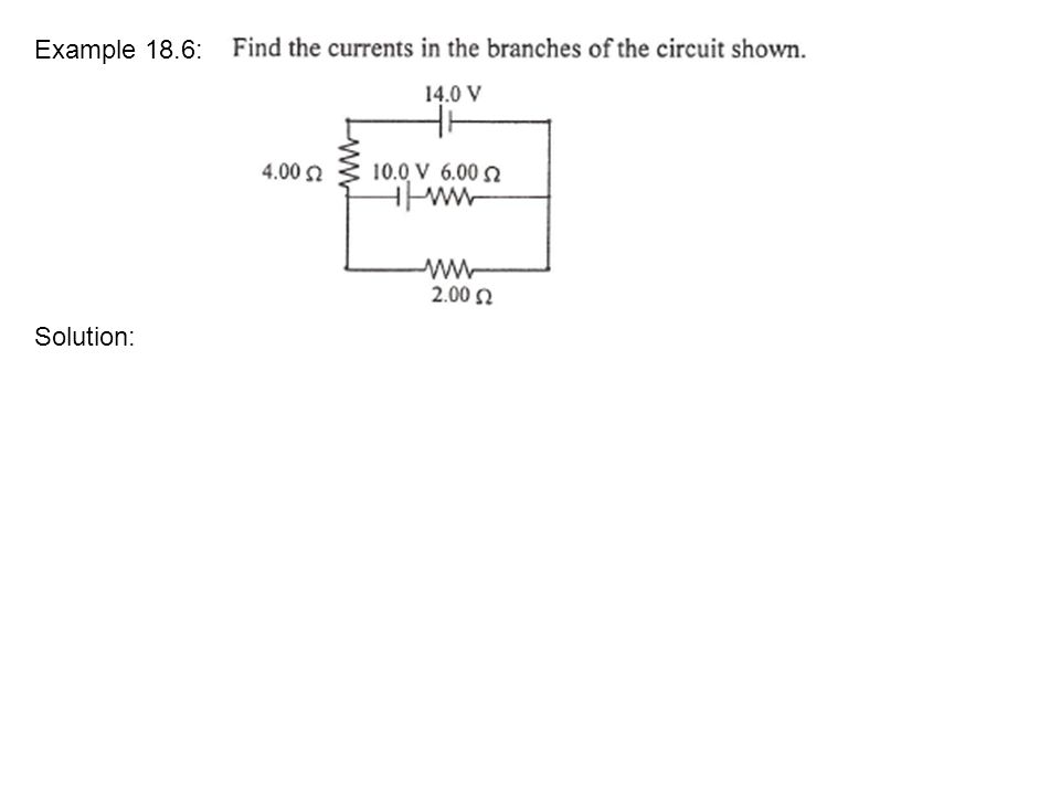Example 18.6: Solution: