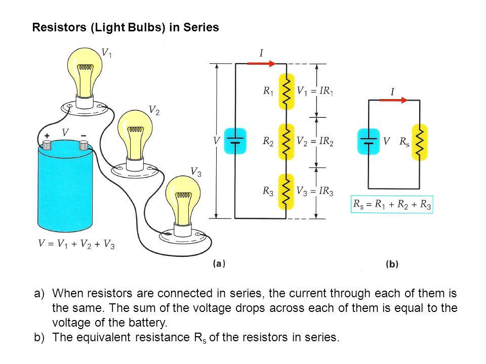 Resistors (Light Bulbs) in Series