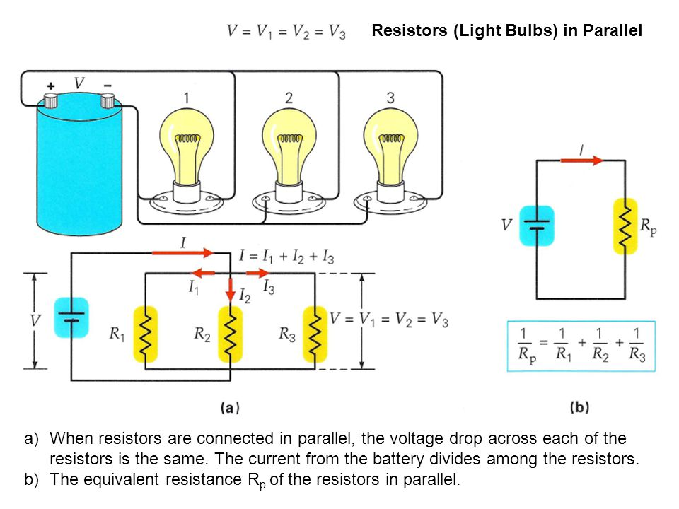 Resistors (Light Bulbs) in Parallel