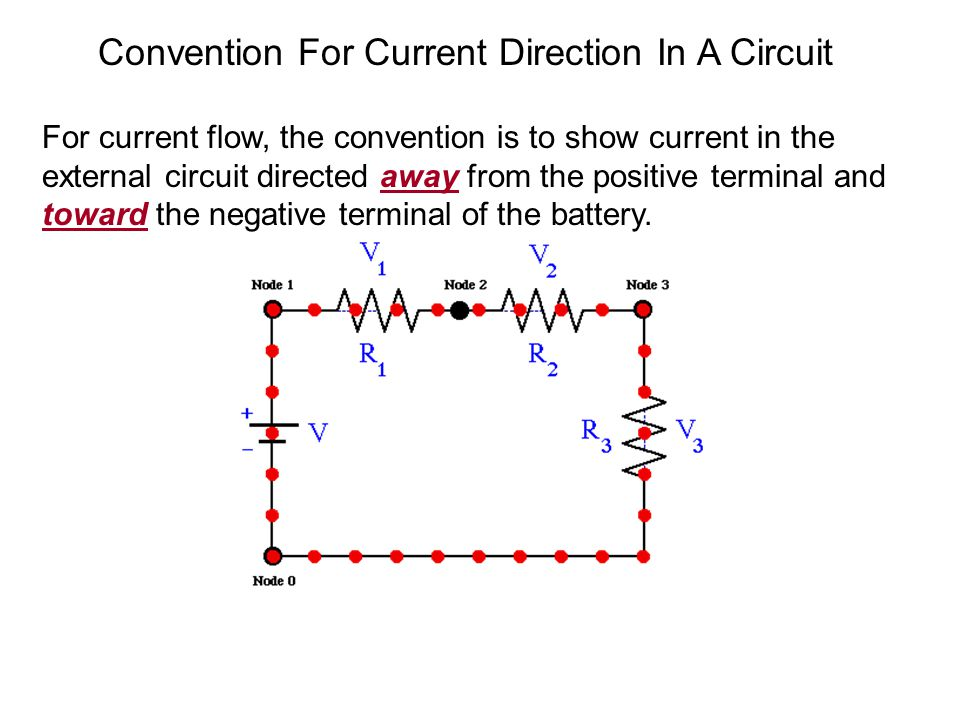 Convention For Current Direction In A Circuit