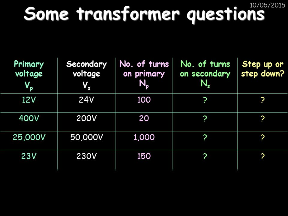 Some transformer questions