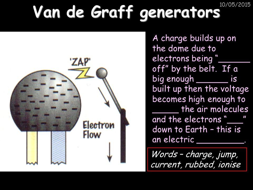 Van de Graff generators
