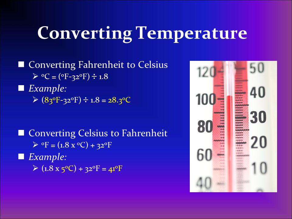 Converting Temperature