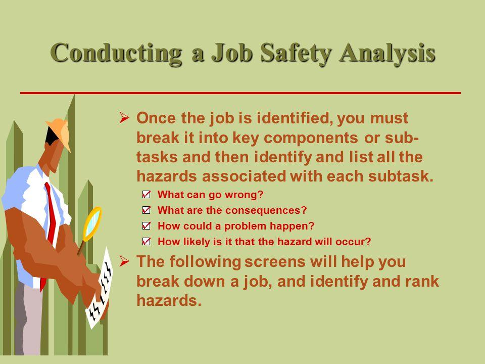 Conducting a Job Safety Analysis