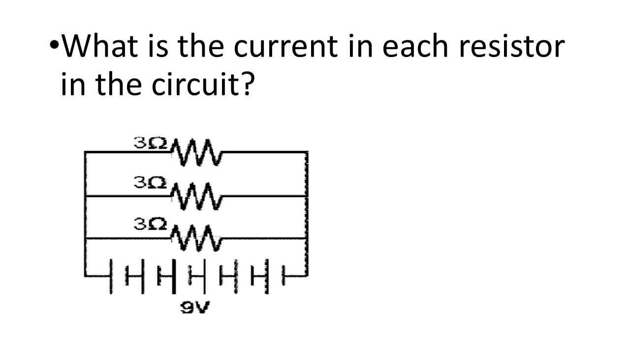 What is the current in each resistor in the circuit