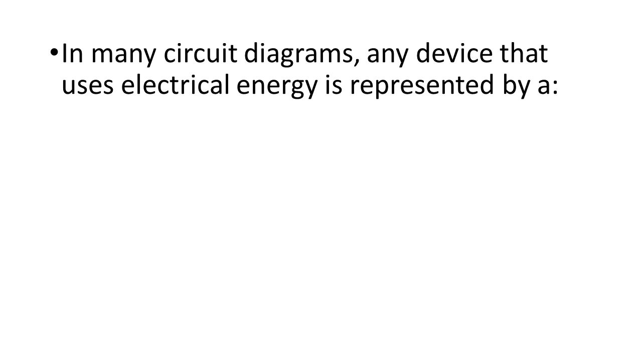 In many circuit diagrams, any device that uses electrical energy is represented by a: