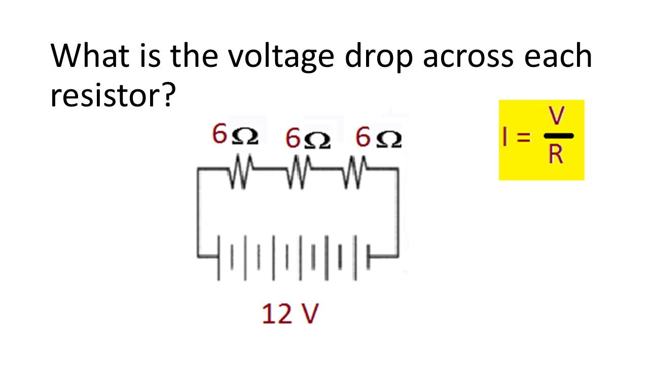 What is the voltage drop across each resistor