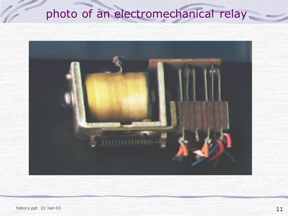 photo of an electromechanical relay