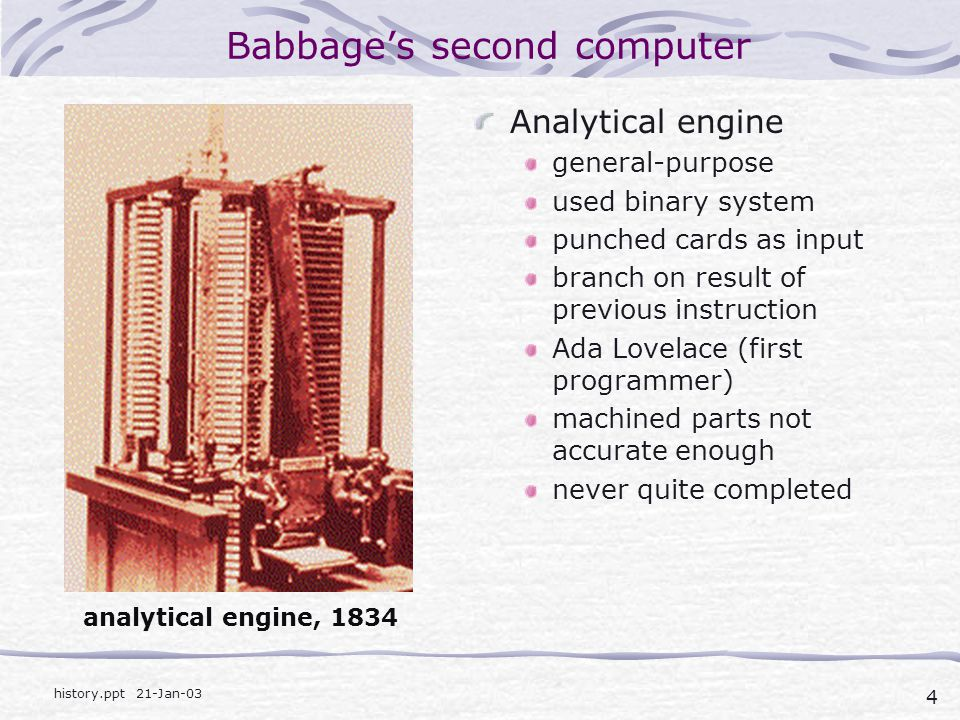 Babbage's second computer