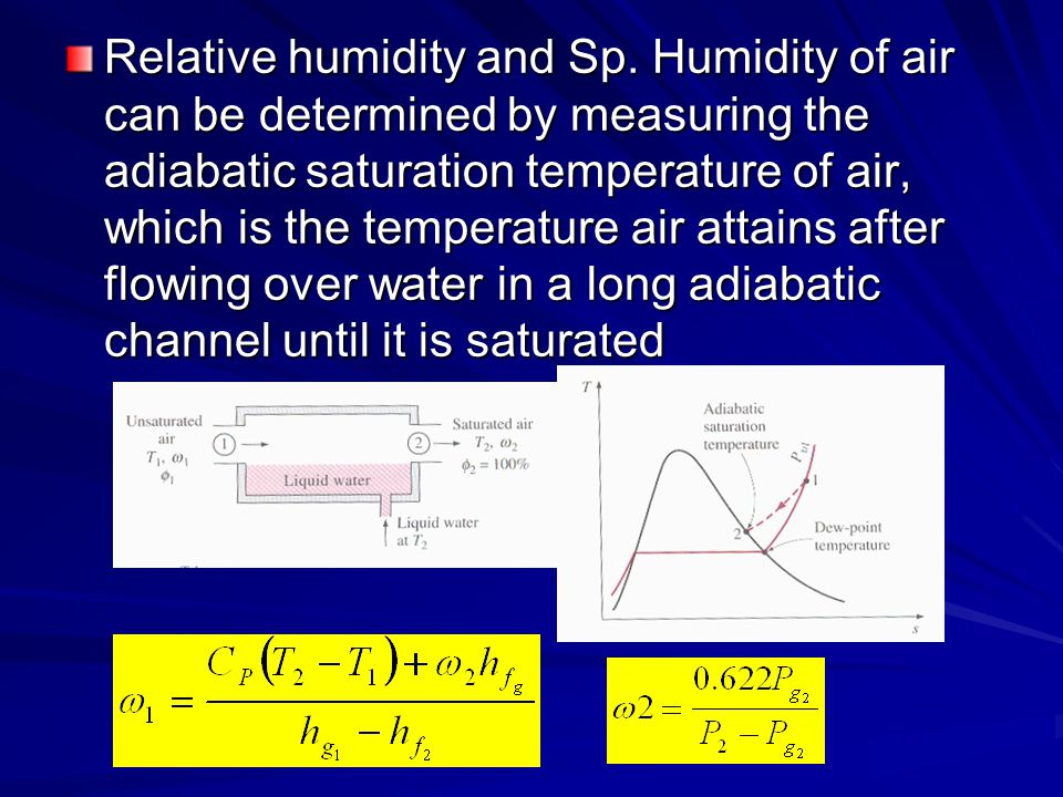 Relative humidity and Sp