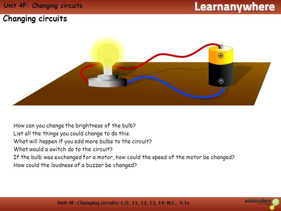 Unit 4F: Changing circuits
