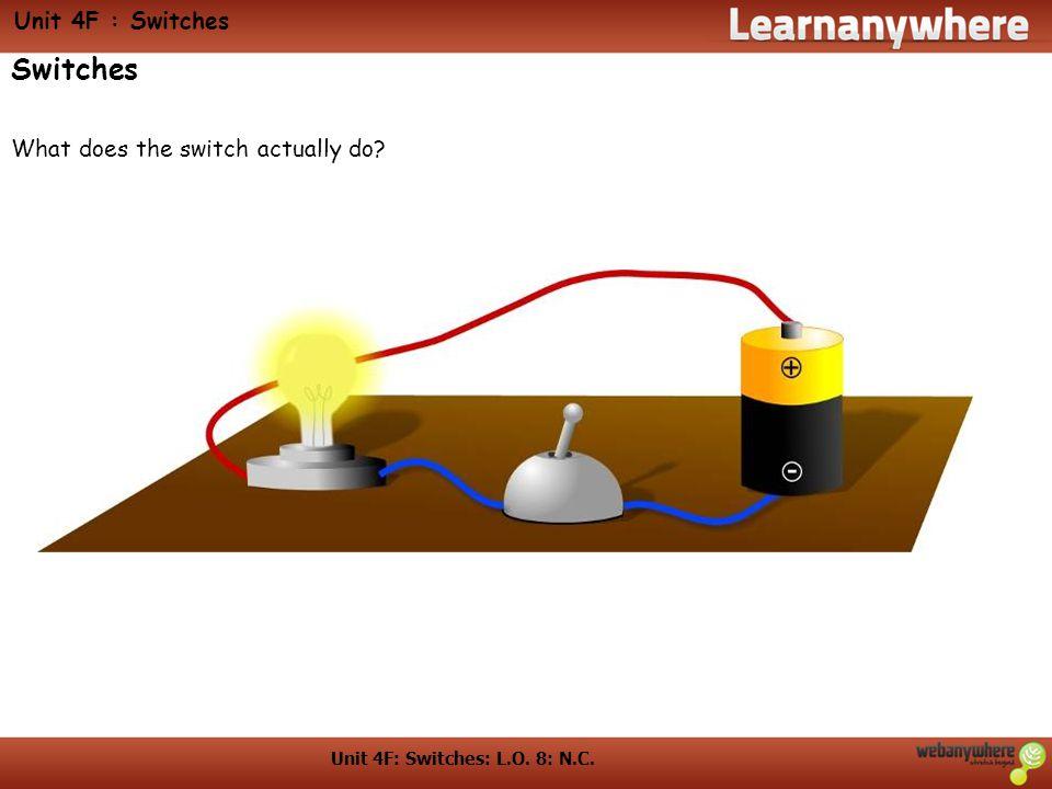 Unit 4F: Switches: L.O. 8: N.C.
