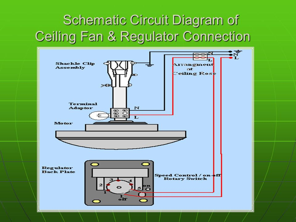 Wiring Diagram Of Ceiling Fan With Regulator : Ceiling fan object to study the part dismantling