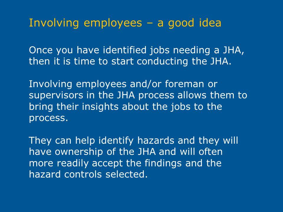 Involving employees – a good idea