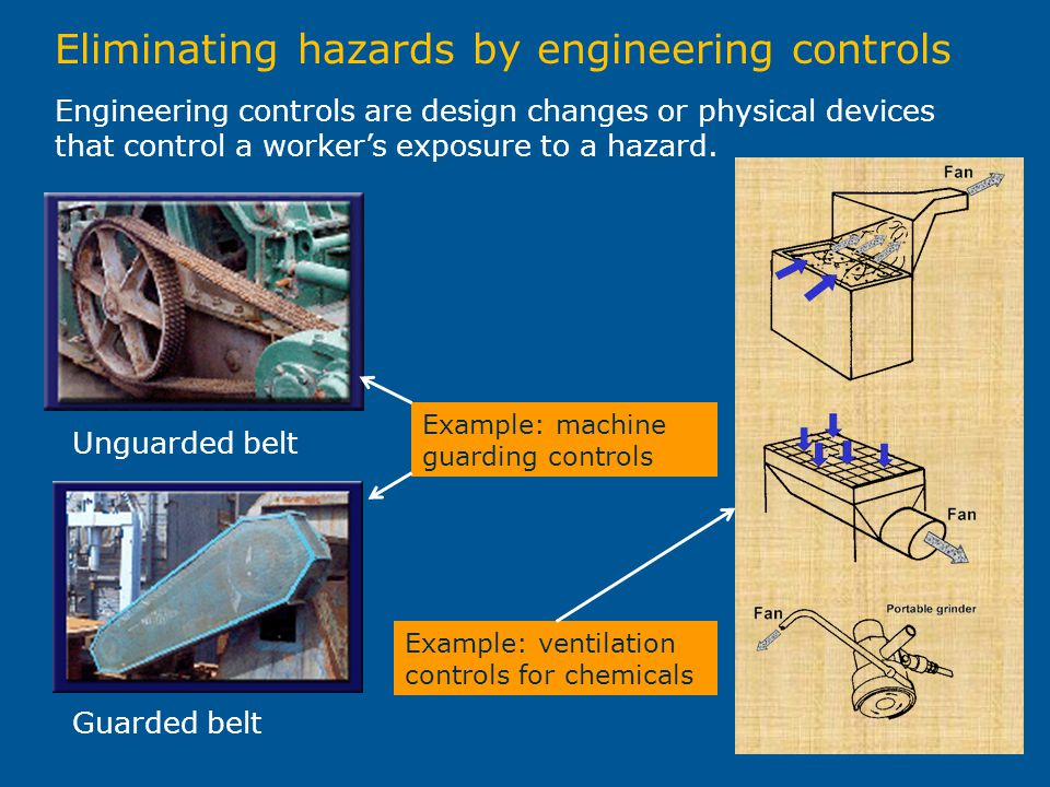 Eliminating hazards by engineering controls