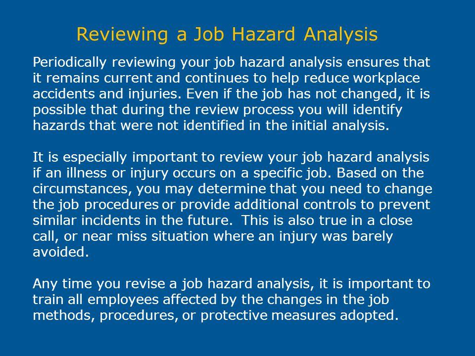 Reviewing a Job Hazard Analysis