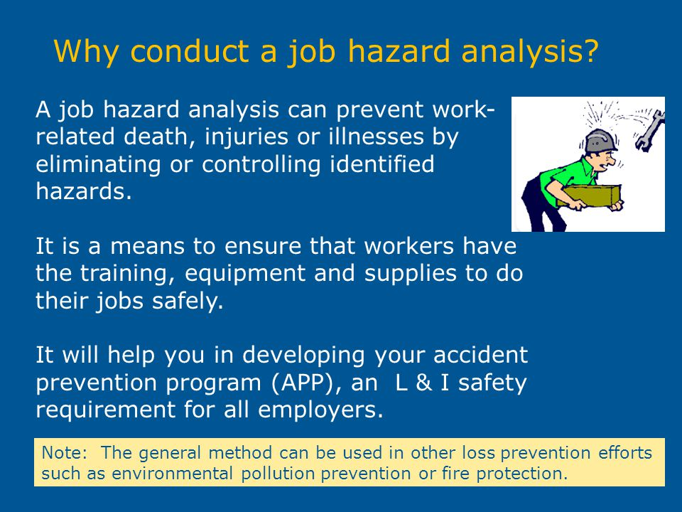 Why conduct a job hazard analysis
