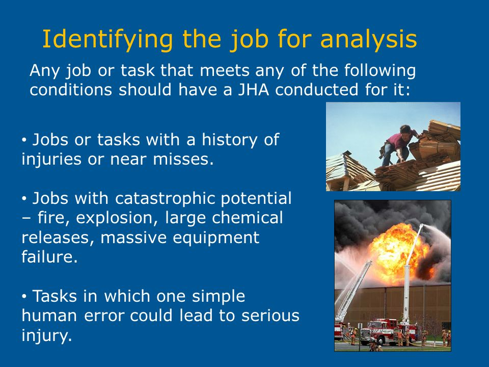 Identifying the job for analysis