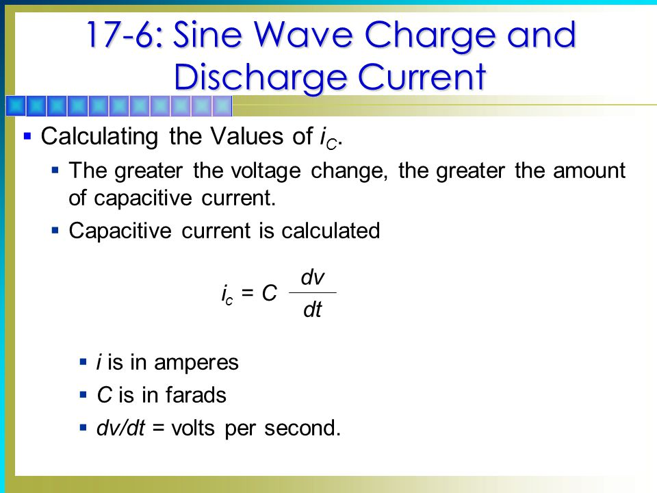 17-6: Sine Wave Charge and Discharge Current