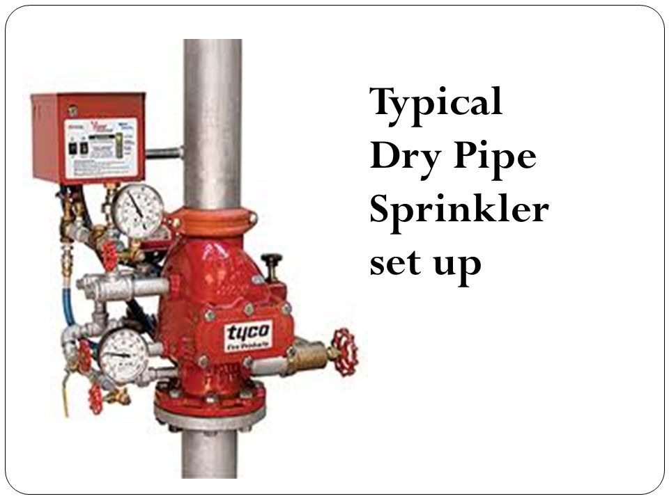Typical Dry Pipe Sprinkler set up