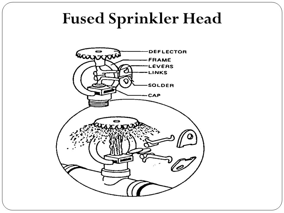 Fused Sprinkler Head