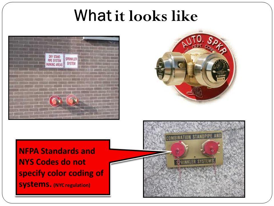 What it looks like NFPA Standards and