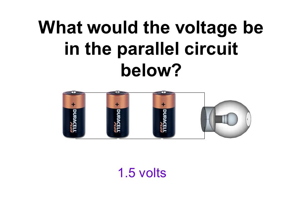 What would the voltage be in the parallel circuit below