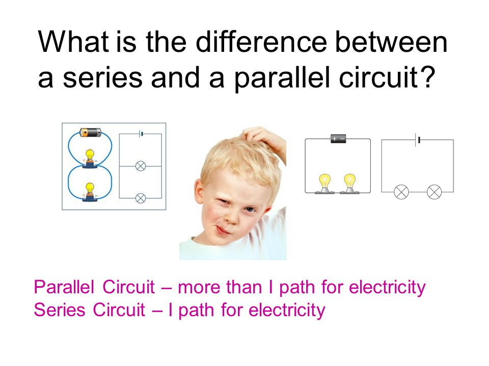 What is the difference between a series and a parallel circuit