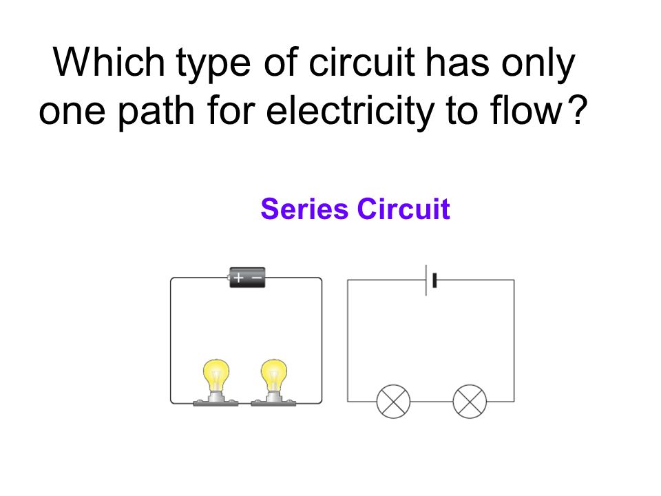 Which type of circuit has only one path for electricity to flow