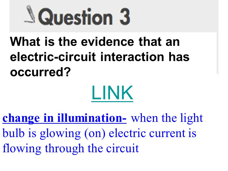 What is the evidence that an electric-circuit interaction has occurred