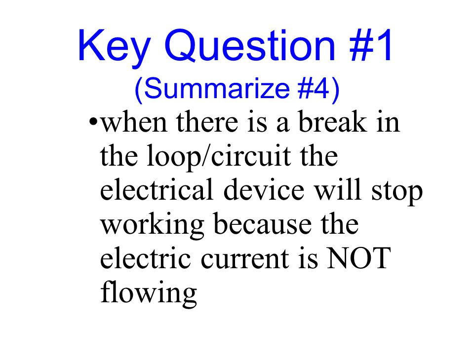 Key Question #1 (Summarize #4)