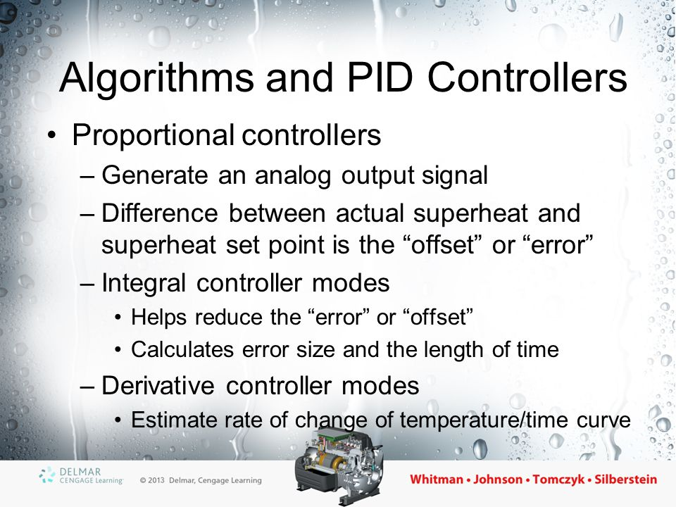 Algorithms and PID Controllers
