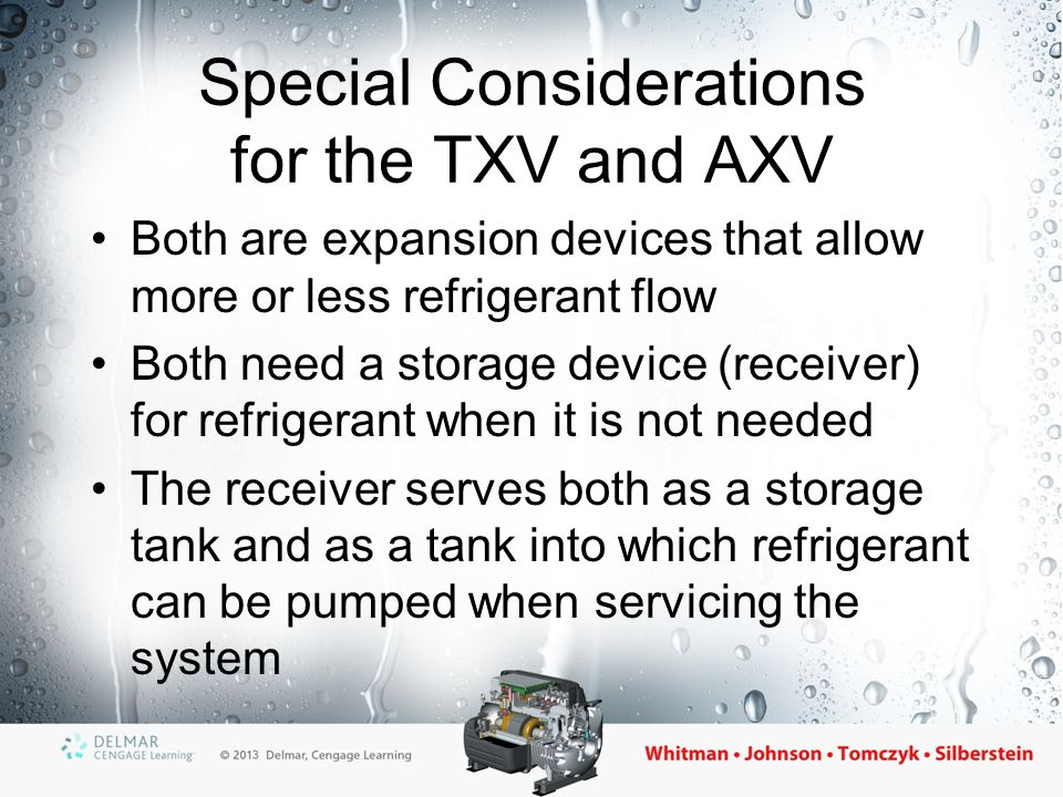 Special Considerations for the TXV and AXV