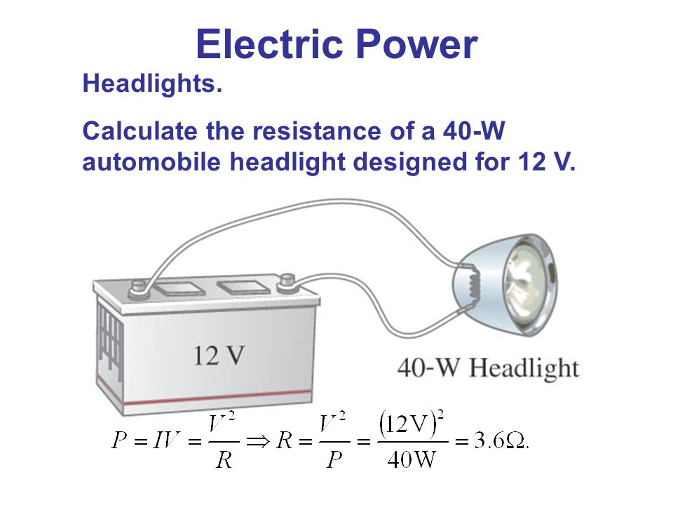 Electric Power Headlights.