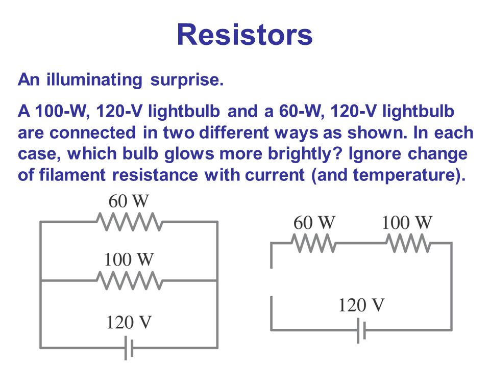 Resistors An illuminating surprise.