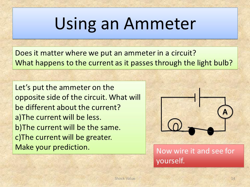 Using an Ammeter Does it matter where we put an ammeter in a circuit