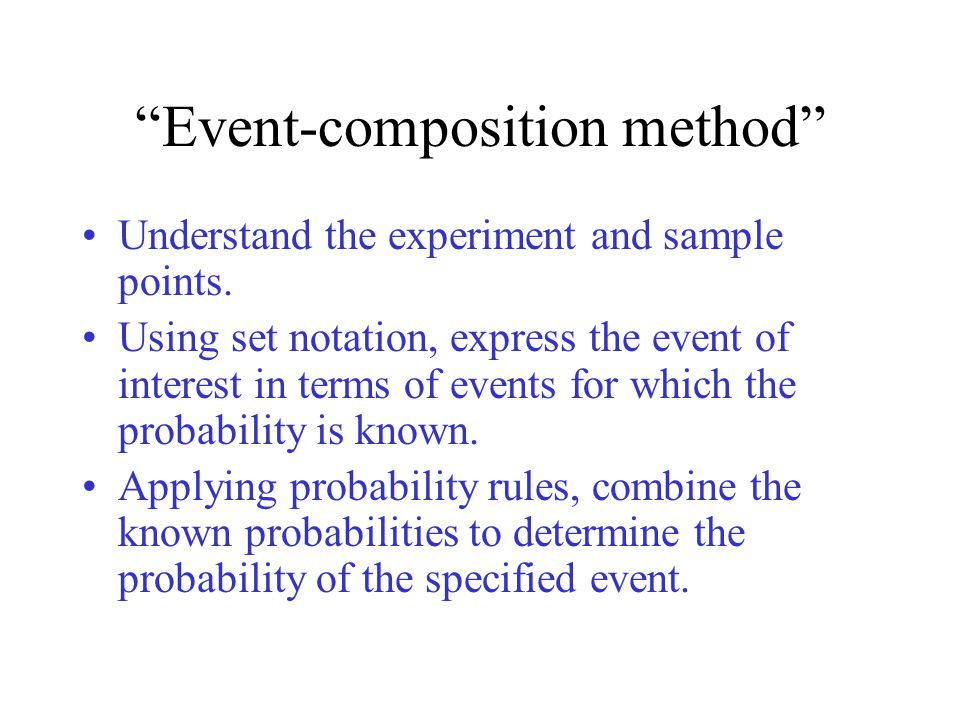 Event-composition method