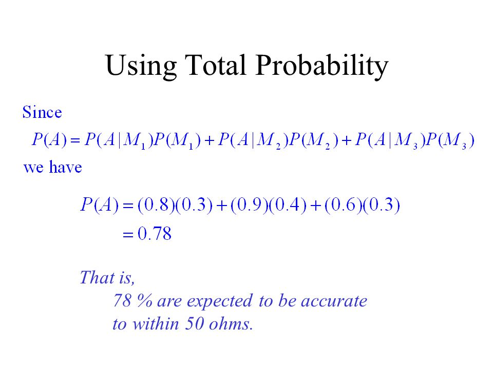 Using Total Probability