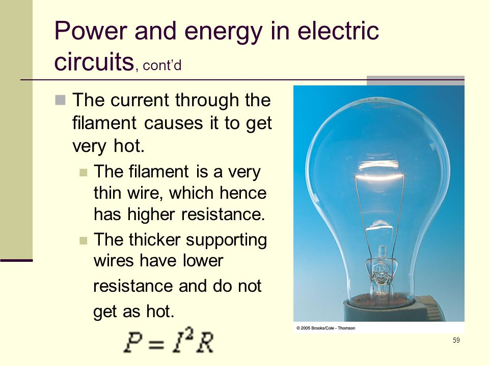 Power and energy in electric circuits, cont'd
