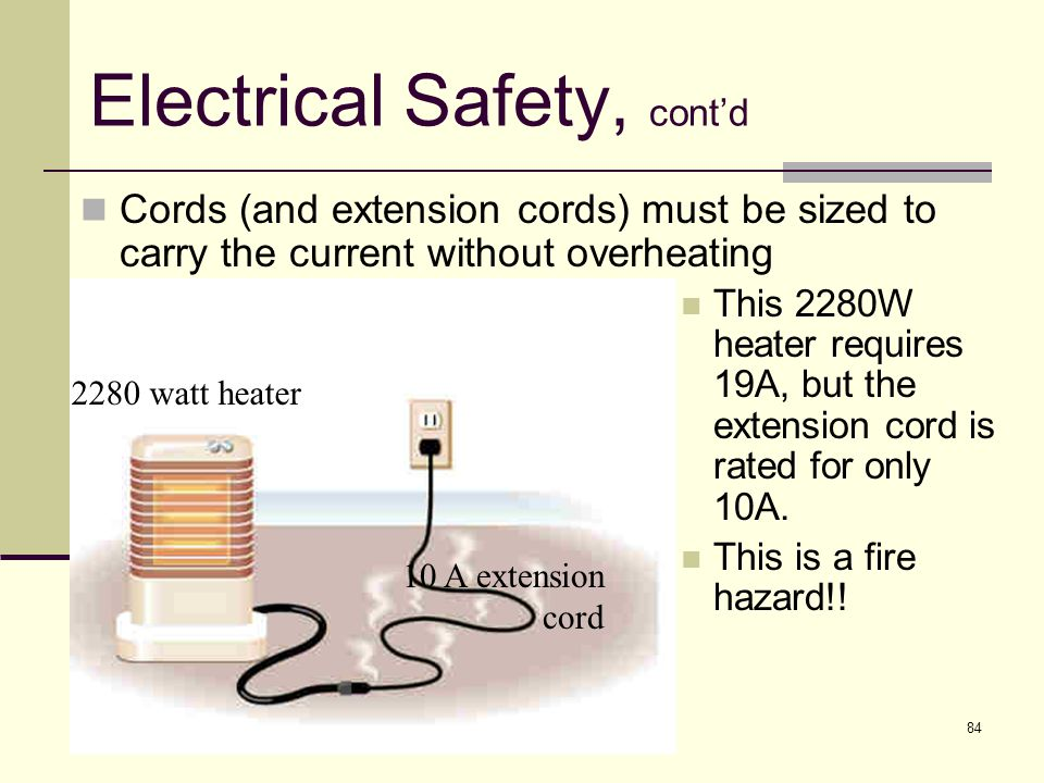 Electrical Safety, cont'd