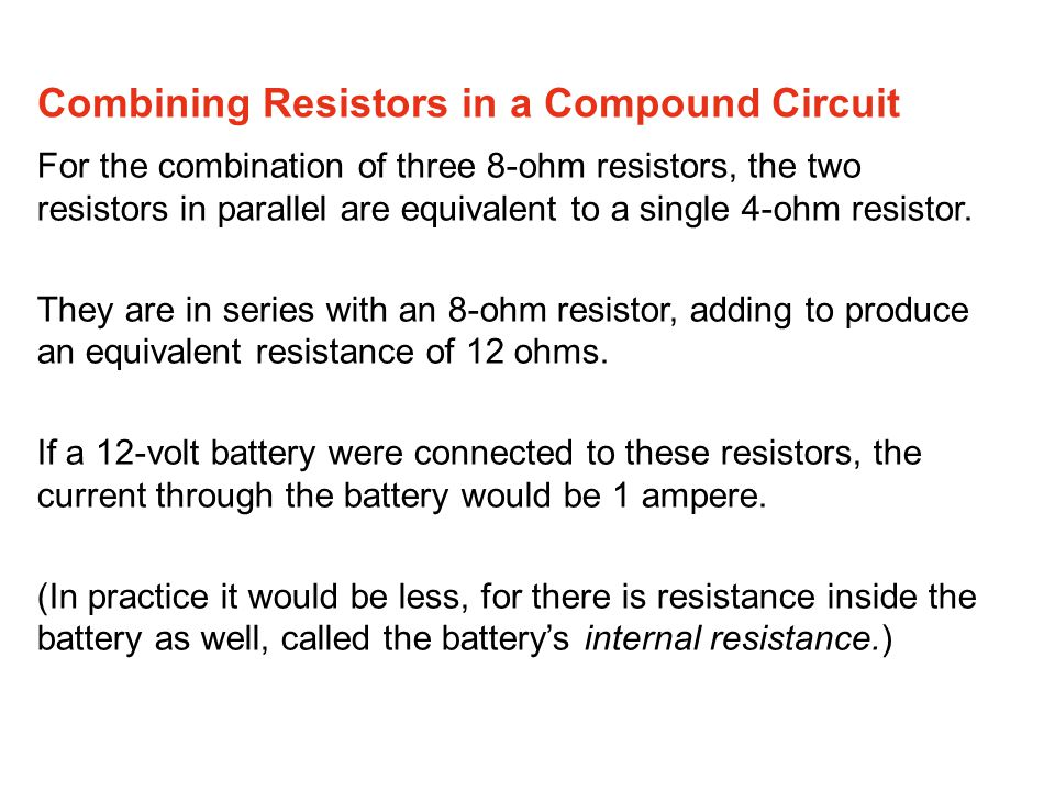 Combining Resistors in a Compound Circuit