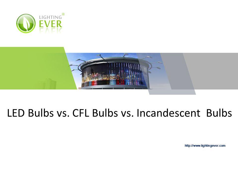 LED Bulbs vs. CFL Bulbs vs. Incandescent Bulbs