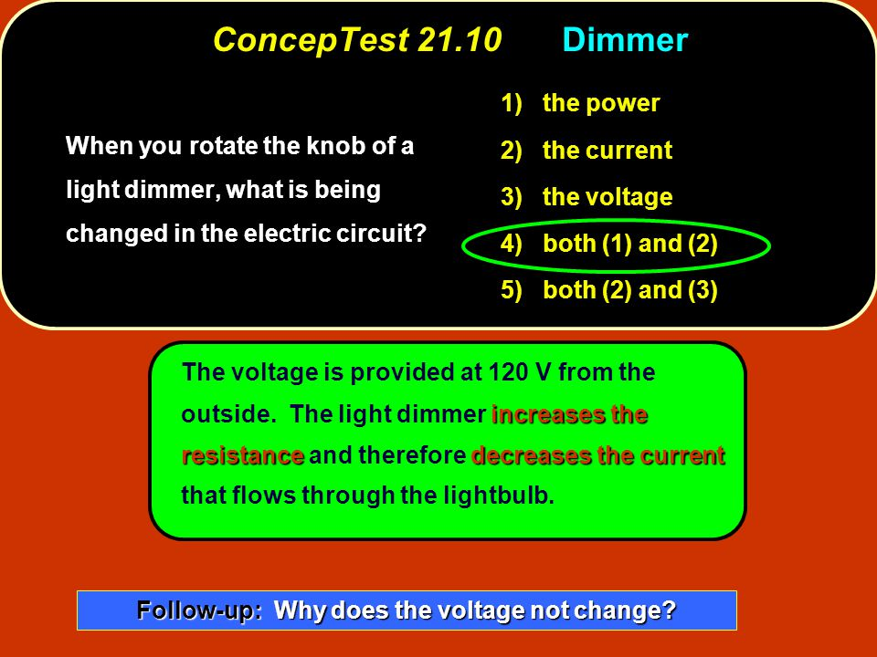 Follow-up: Why does the voltage not change