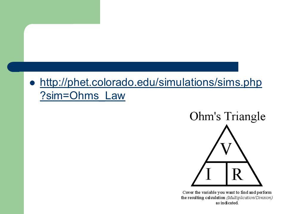 http://phet.colorado.edu/simulations/sims.php sim=Ohms_Law