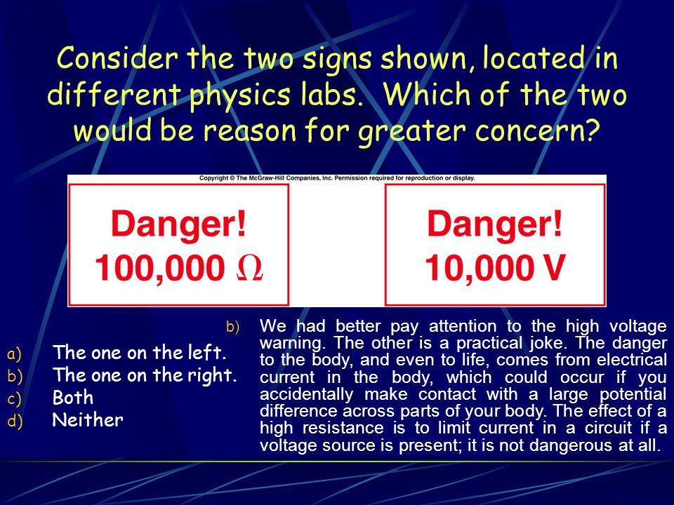 Consider the two signs shown, located in different physics labs