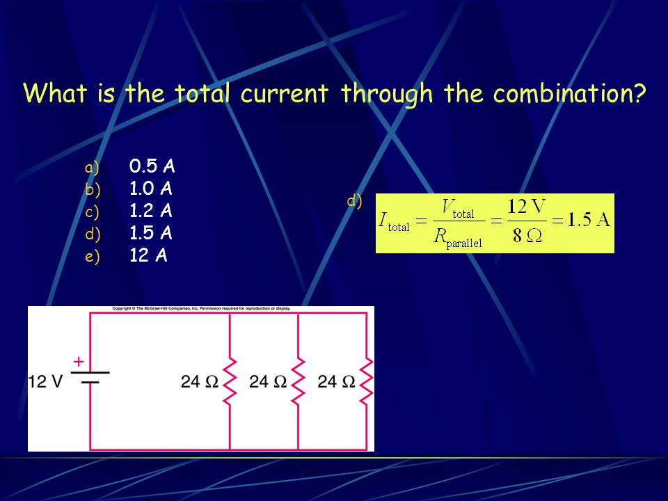 What is the total current through the combination
