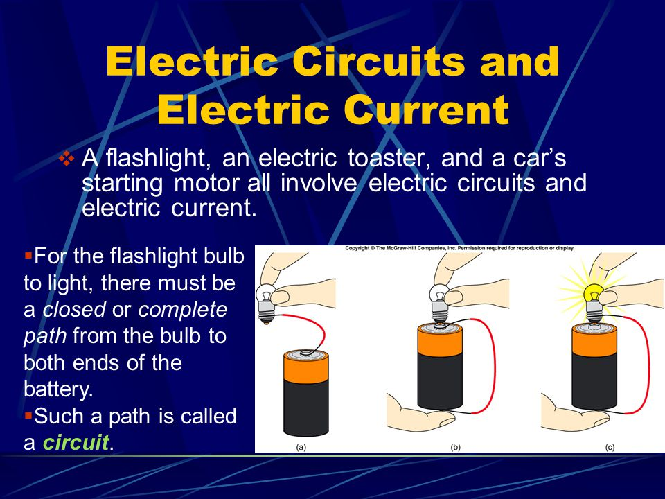 Electric Circuits and Electric Current