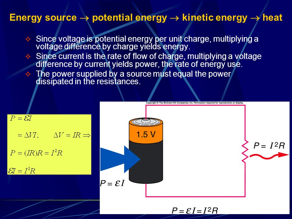Energy source  potential energy  kinetic energy  heat