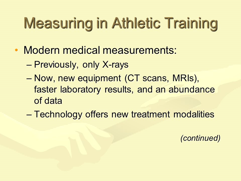 Measuring in Athletic Training